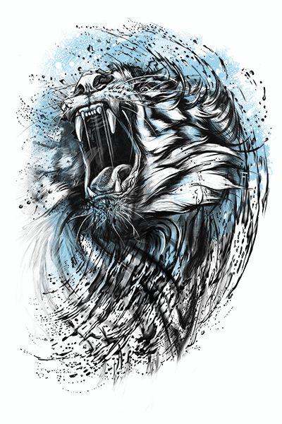 Tiger by Kamila Sharipova, via Behance