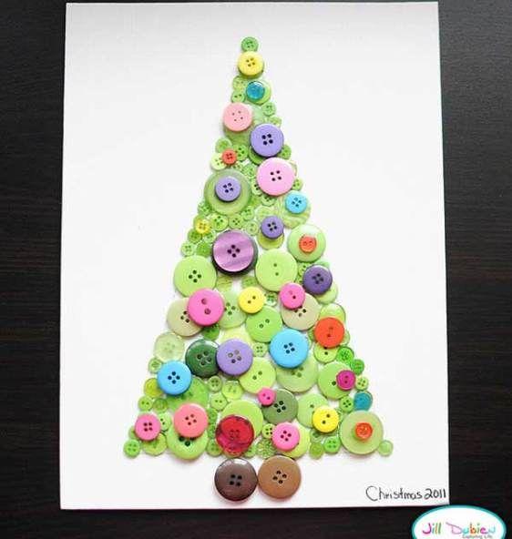 Decoração de natal, árvore com botões