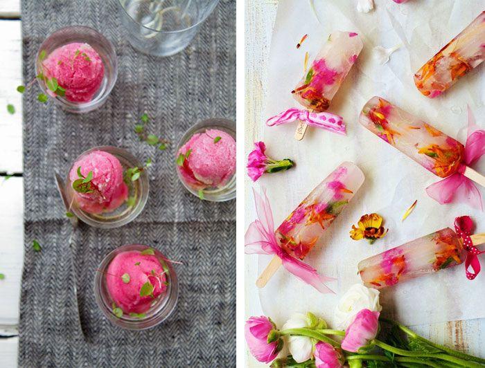 Edible Flower Pops