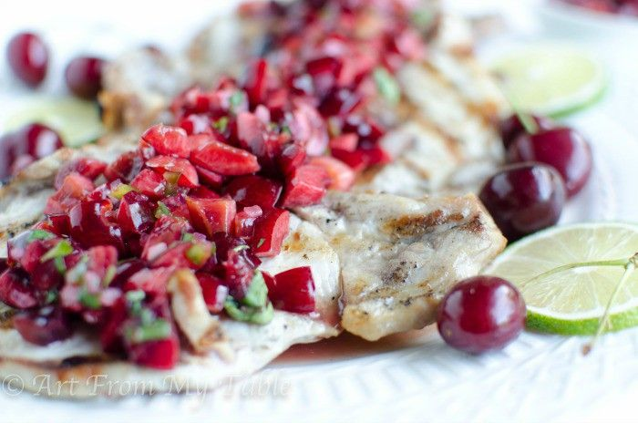 ... cherry salsa. These pork chops with cherry salsa is done in under 30