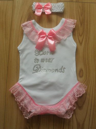 Romany Gypsy Baby Girls Frilly Bling Crystal Vest And