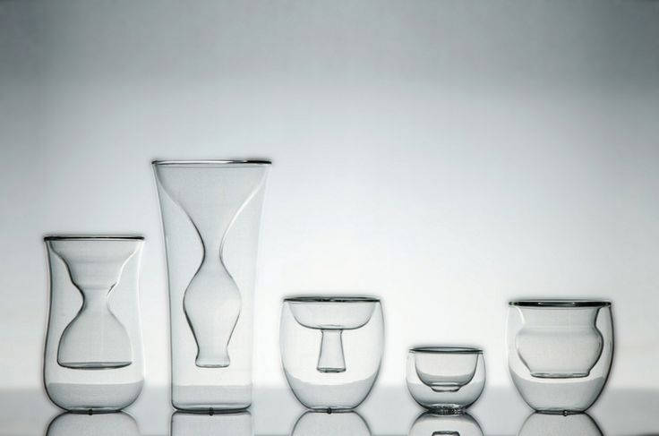 studio KDSZ li wai series defines glass cup cores as ancient chinese bowls