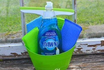 Window washing tip using Dawn dishwashing liquid! Who knew!