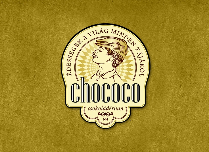 Chococo - The largest chocolate shop in Hungary, logo design, ci design, csokoládérium, logó tervezés