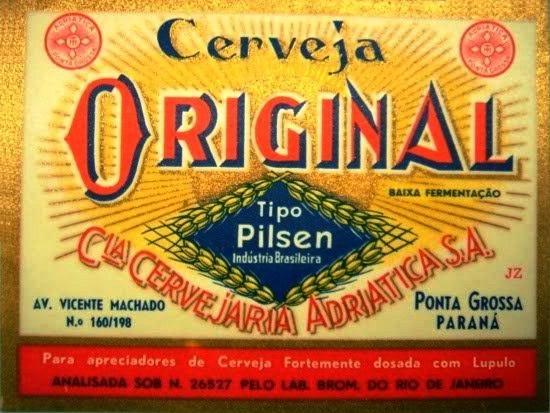Rótulo cerveja Original Adriática