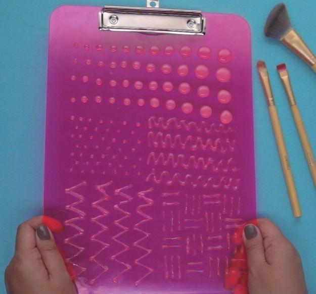 DIY Makeup Brush Cleaning Board   Simple & Fun DIY!