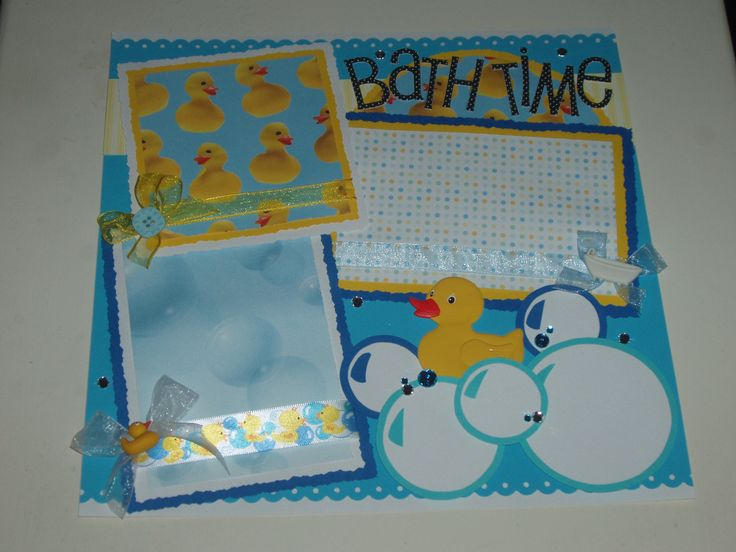 scrapbook pages bubbles   New Baby Bath Time Bubbles Premade by kariskraftkorner3301 on Etsy