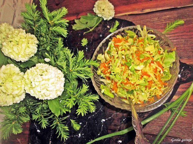 Gosia gotuje: Surówka z młodej kapusty do obiadu