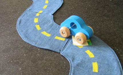 RECYCLER des jeans en circuit de voiture - couture tuto, couture facile pour débutant