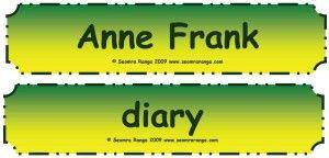 Anne Frank Flashcards