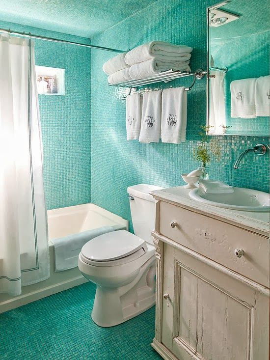 bathroom design colors tiffany blue tile small bathrooms towels