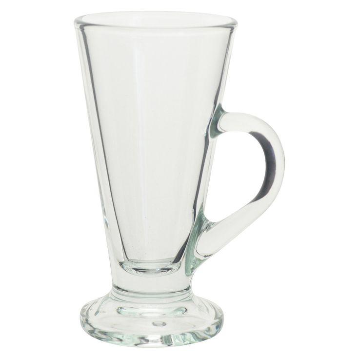 10 Strawberry Street Lugano 6pc Irish Coffee Mugs, Clear