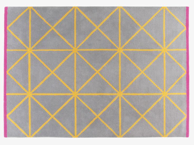 GRID MULTI-COLOURED Wool Large geometric patterned wool rug 170 x 240cm - HabitatUK   #ourHabitat