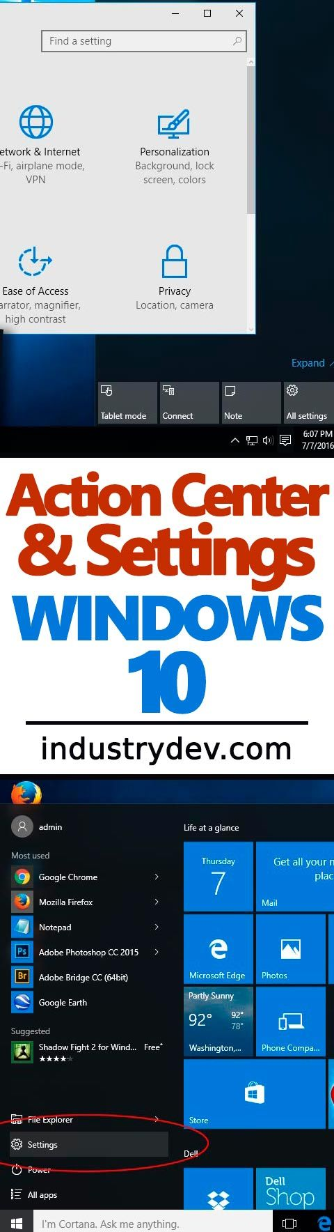 How to Change Settings & Use the Action Center in Windows 10: There's a new panel in town and it's called the Action Center. It tells you all sorts of things, such as when your computer needs an update, when you have an email and allows you to view calendar events that are near. It also includes shortcut to many important settings. In my most recent post, I give a quick tour of this area and clue you in to how you can easily navigate this area as well as modify a few settings.