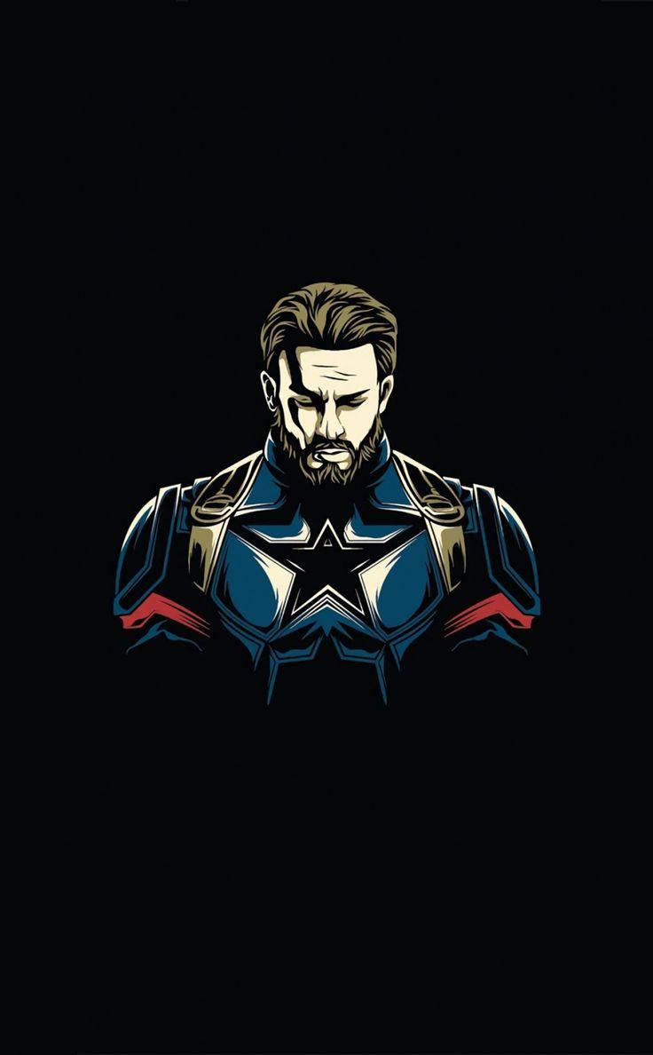 950x1534 First Avenger, Captain America, minimalist
