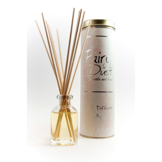 One of the great things about our reed diffusers is that because there's no flame, you can leave them unattended and they last for weeks and weeks! Once the scent has all been diffused you can refill the bottle with our Blended Perfumes and Renew the Reeds at any time you fancy. Fairy Dust; Invisible & True. Of all our reed diffusers, this is our most popular. A difficult scent to describe; based on a fine fragrance. It's Powdery, Warm, Sparkly and Magical. In short- Fairy Dust!