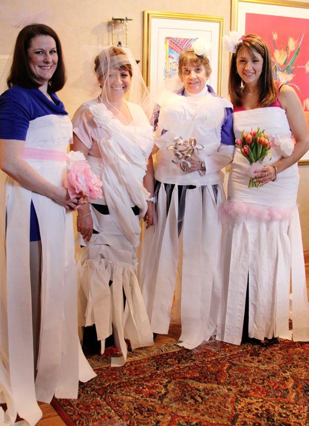 Bridal Shower Game: Toilet paper brides.