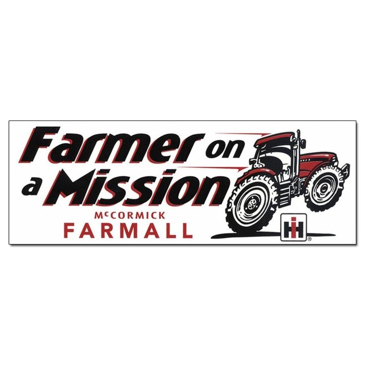 Ih farmall farmer on a mission bumper sticker stickers and decals home and gifts