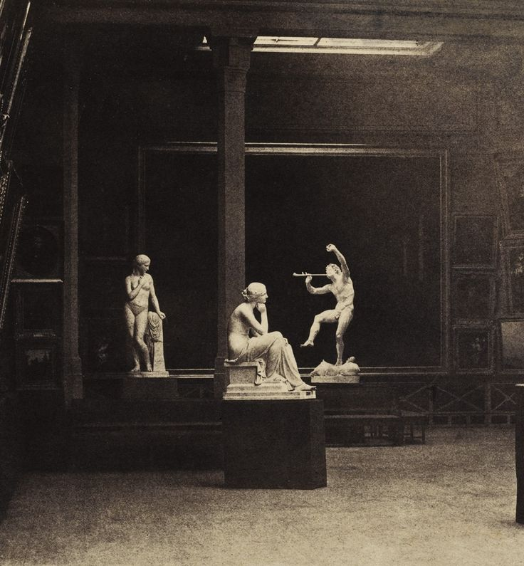 Gustave Le Gray (1820-1884)    Statues at the Paris Salon of 1852