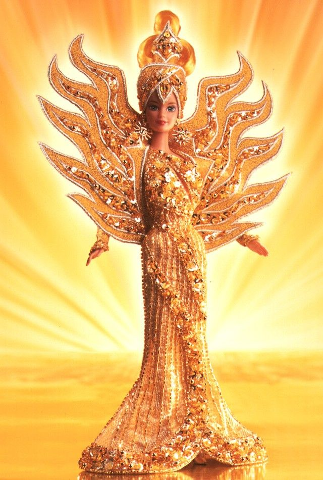 Goddess of the Sun Barbie Doll - 1995 Collectible Designer Dolls - Bob Mackie - Barbie Collector