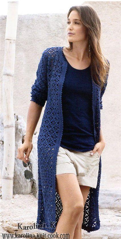Inspirações de Croche com Any Lucy: Casaco Longo