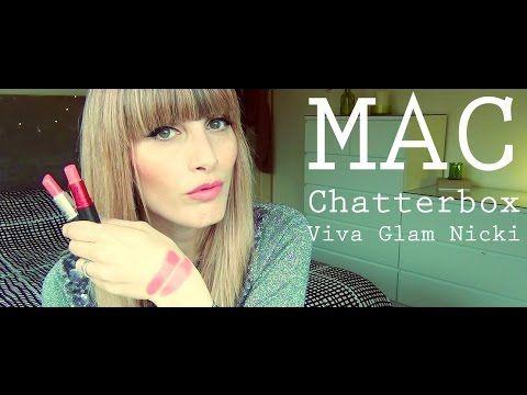 MichelaIsMyName: MAC Swatches - Chatterbox vs Viva Glam Nicki   MIC...