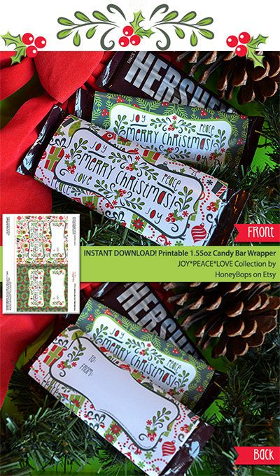 INSTANT DOWNLOAD Christmas JoyPeaceLove 155oz Candy by HoneyBops, $7.95