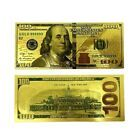 1-Ben Fanklin Gold Foil $100 Dollar Bill Bank No…