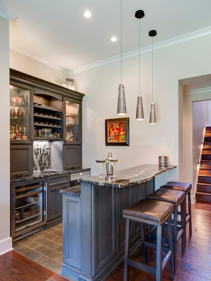 Looking for home bar ideas for your basement, bonus room, home theater or lounge area? Browse these pictures to find new design ideas and options.