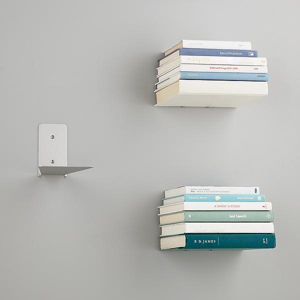 Umbra Silver Conceal Book Shelves Pkg 3 Floating Bookshelves