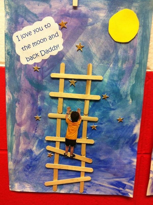 I Love You To The Moon And Back Daddy Card