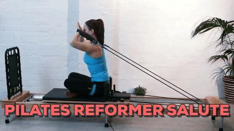 Pilates Reformer Salute Exercise
