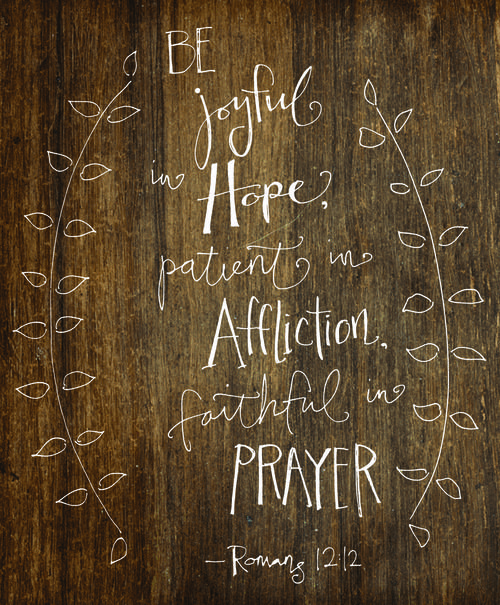Romans 12:12 - verse about prayer...