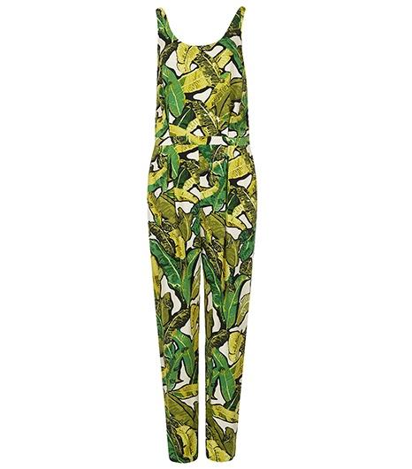 Topshop leaf print jumpsuit
