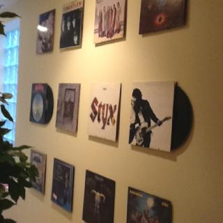 Records on wall bedroom decor