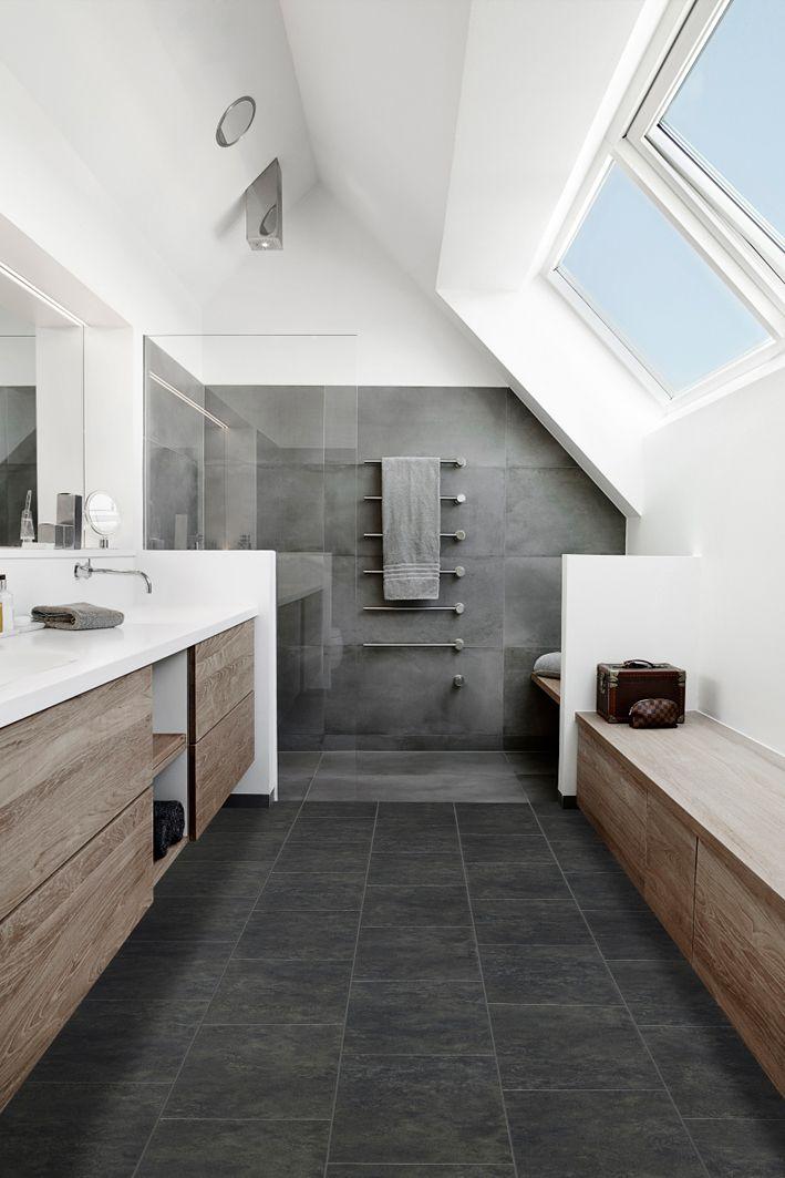 Handyfloor Perlato Dark Badezimmer Badezimmer Dachgeschoss Badrenovierung