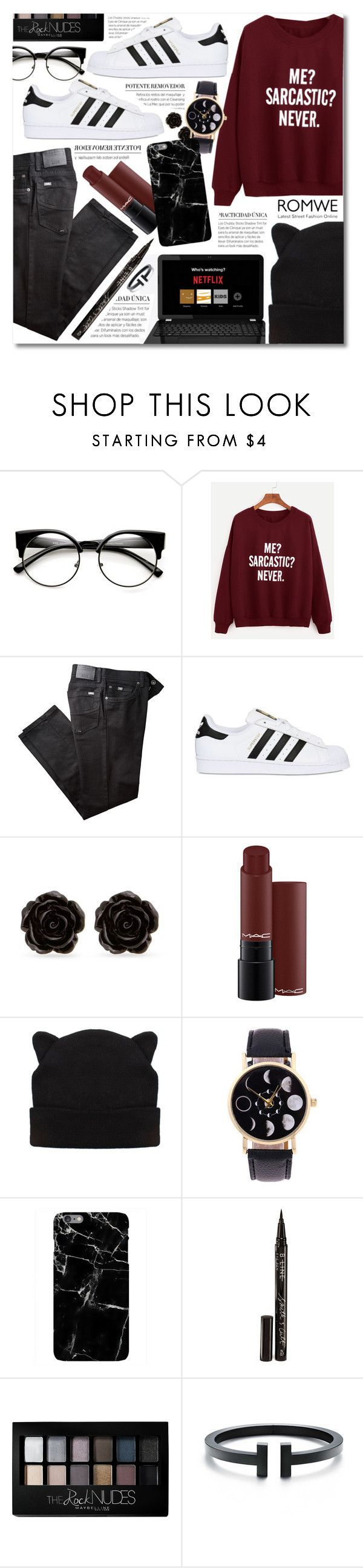"""Cute & Cozy."" by elizabeth4ever ❤ liked on Polyvore featuring BRAX, adidas Originals, Erica Lyons, Smith & Cult and Maybelline"