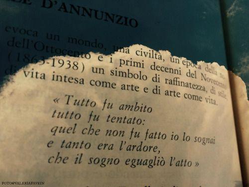 Fare del sogno, l'atto. Gabriele D'Annunzio