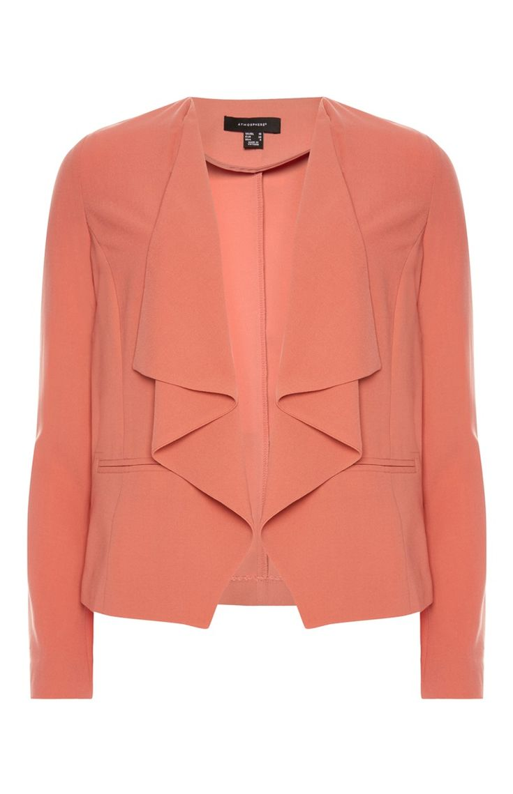 Primark - Coral Short Waterfall Jacket