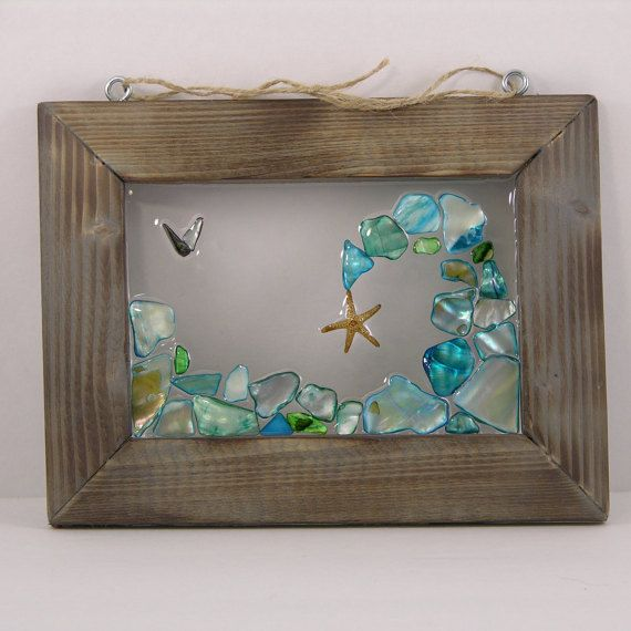 beach glass craft ideas starfish amp the wave by seasidesbydesign on etsy 3428