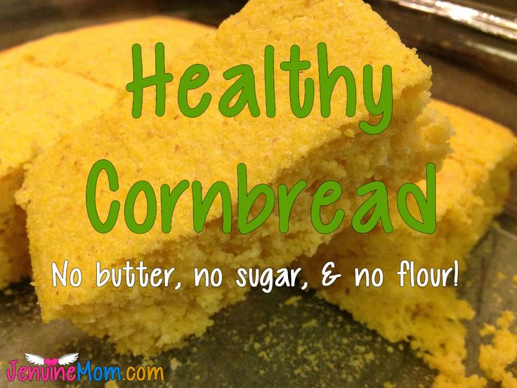 Healthy Cornbread - 100% Simply Filling with no butter, no flour, and no sugar!