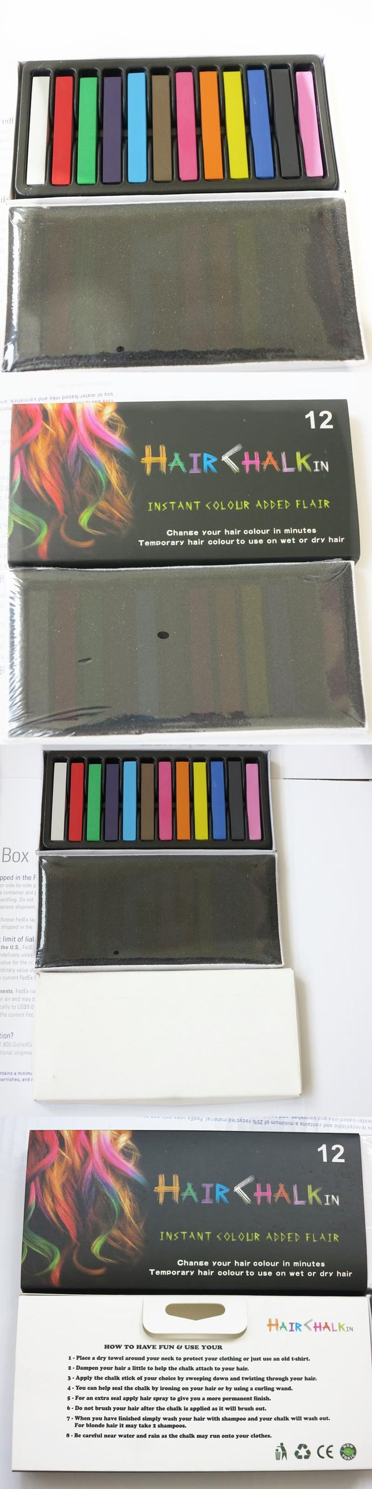 HARMONY 1 SET 12 Colors Non-toxic Temporary Salon Kit Pastel Chalk Square Hair Dye Color Chalk Used For Hair with Fast Delivery