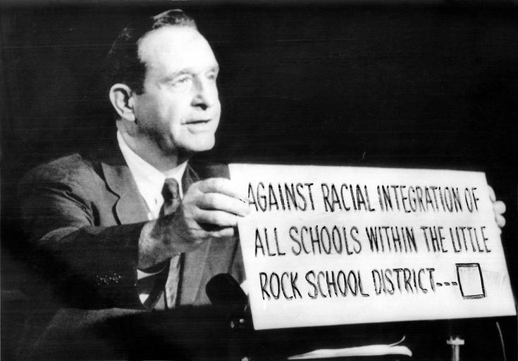Orval Faubus September 4,1957 Orval Faubus, governor of Arkansas, called out the National Guard to prevent African American students from enrolling in Central High School.