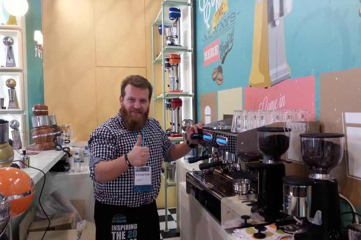 Christos Kontos, the well known barista that created the best beverages for ARTEMIS MIXER visitors and us all! http://bit.ly/1M3BqGa