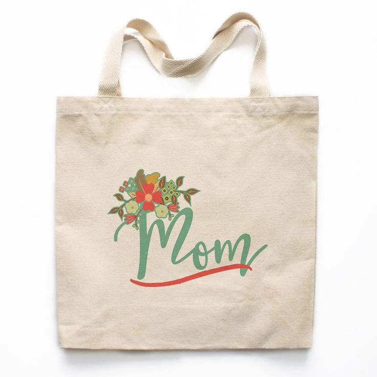Mom Floral Canvas Tote Bag - A Mother Is The World Canvas Tote Bag - Mother's Day Tote Bag, Mother's Day Gift, Gift for Mom, Gift Ideas for Mom, Tote Bag for Mom, Birthday Gift for Mom, Christmas Gift for Mom, Xmas Gift for Mom, Mom Birthday Gift, Mom Chr