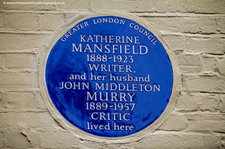 MANSFIELD, Katherine, 1888-1923,  & MURRY, John Middleton, 1889-1957, Writer; Critic, 17 East Heath Road, Hampstead, NW3 1AL, London Borough of Camden.