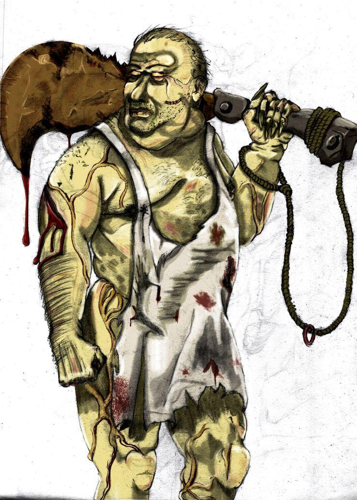 Creepy Butcher.  Digital Painting.  Illustration