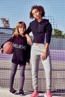 WORKOUT_KIDS L ACTIVE MESH HOODY, €10 $11, legging, €5 $5.50, crop top, €6 $7 R Active crop hoody, €10, Jogger, €9, neon runner, €9, to download this press image please visit prshots.com/press #kids #mums #children#kidsfashion #fashion #trend #style