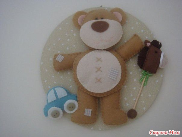 Идеи из фетра для украшения детских комнат