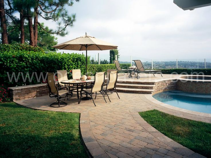 Make Your Pool Elegant Through Our Pool Deck Pavers Installation In Orange  County, Los Angeles, Anaheim, Long Beach And Riverside Counties.